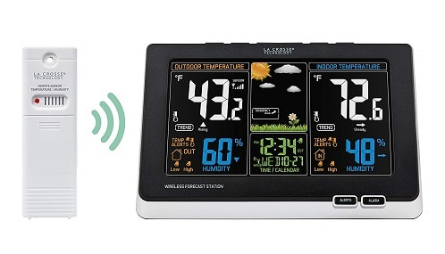 La Crosse Technology 308-1414B-INT 308-1414B Wireless Atomic Digital Color Forecast Weather Station
