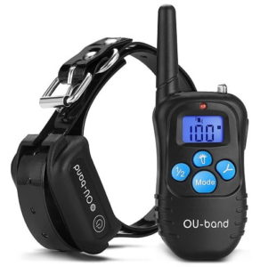 OU-BAND Dog Training Collar 330 Yards Remote Waterproof Shock Collar